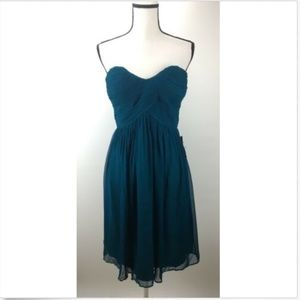 Donna Morgan Dress 10 Silk Chiffon Strapless
